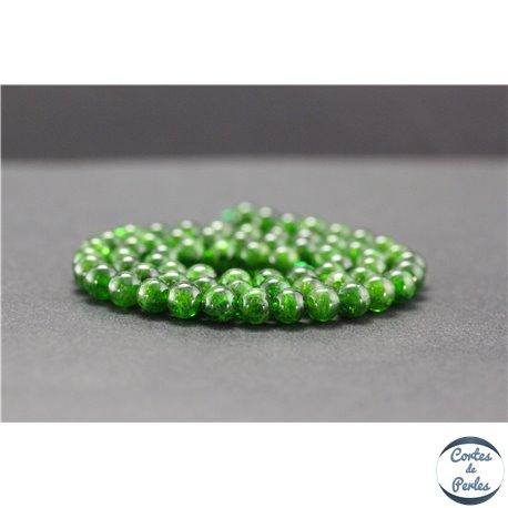 Perles en diopside de Russie - Rondes/6mm - Grade A+