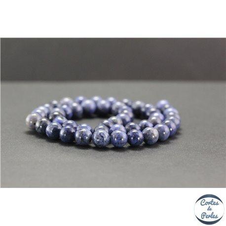 Perles en dumortiérite d'Afrique du Sud - Rondes/8mm - Grade AA
