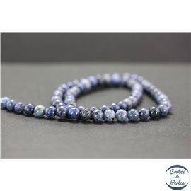 Perles en dumortiérite - Rondes/6mm - Grade AA