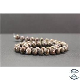 Perles en agate rainforest - Rondes/8mm - Grade A