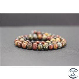 Perles en jaspe Picasso - Rondes/6mm - Grade A