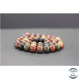 Perles en jaspe Picasso - Rondes/8mm - Grade A