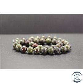 Perles en jaspe dragon - Rondes/10mm