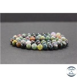 Perles en agate d'Inde - Rondes/6mm - Grade A