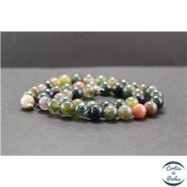 Perles en agate d'Inde - Rondes/8mm - Grade A