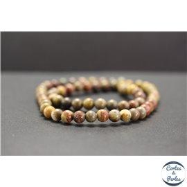 Perles en jaspe arc en ciel - Rondes/6mm