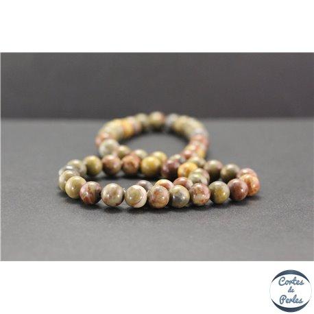 Perles en jaspe arc en ciel - Rondes/8mm