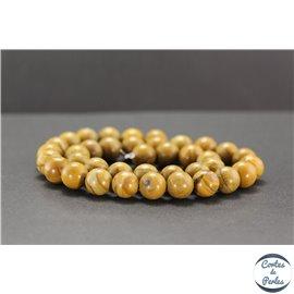 Perles en jaspe bois - Rondes/10mm