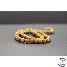 Perles en jaspe bois - Rondes/6mm