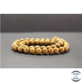 Perles en jaspe bois - Rondes/8mm