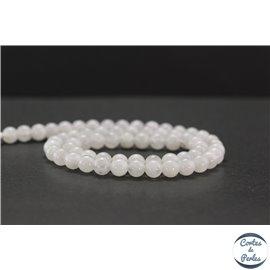 Perles en pierre de Lune arc en ciel du Sri Lanka - Rondes/6mm - Grade AB