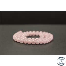 Perles en morganite rose - Rondes/6mm - Grade A