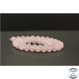 Perles en morganite rose - Rondes/8mm - Grade A