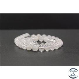 Perles en cristal de roche - Rondes/8mm - Grade AB