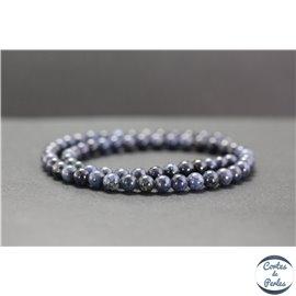 Perles en dumortiérite - Rondes/6mm - Grade A
