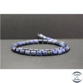 Perles en dumortiérite - Tubes/6mm