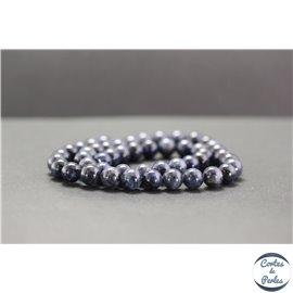 Perles en dumortiérite d'Afrique du Sud - Rondes/8mm - Grade A