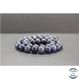 Perles en dumortiérite d'Afrique du Sud - Rondes/10mm - Grade A