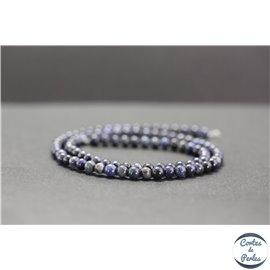 Perles en dumortiérite - Rondes/4mm - Grade A