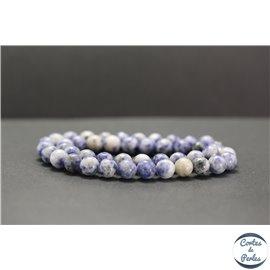 Perles en sodalite - Rondes/8mm - Grade AB