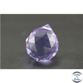 Lot de 3 pendentifs en cristal - Gouttes/31 mm - Améthyste AB