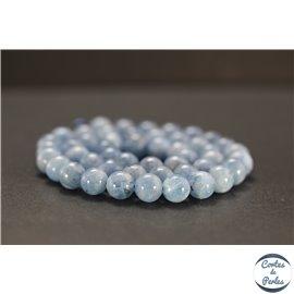 Perles en aigue-marine d'Afrique du Sud - Rondes/8mm - Grade AAA