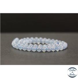 Perles en aigue-marine d'Afrique du Sud - Rondes/6mm - Grade AAA
