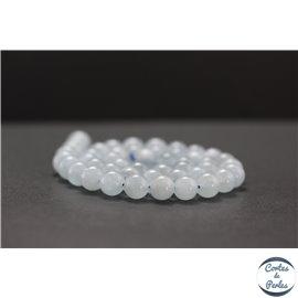 Perles en aigue marine - Rondes/8mm - Grade AB