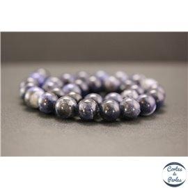 Perles en sodalite d'Afrique du Sud - Rondes/12mm - Grade A+