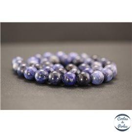 Perles en sodalite d'Afrique du Sud - Rondes/10mm - Grade A+