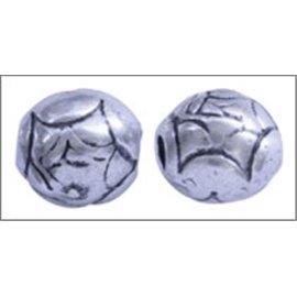 Apprêts boules de métal qualité premium - 11 mm - Argenté