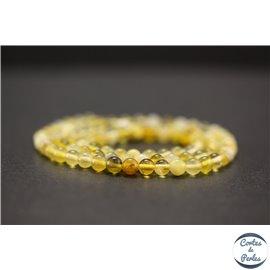 Perles en opale jaune d'Afrique - Rondes/4mm - Grade AB