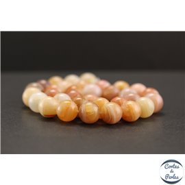 Perles en agate du Botswana - Rondes/12mm - Grade A