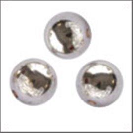 Apprêts boules de métal qualité premium - Rondes/3 mm - Argenté