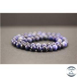 Perles en sodalite d'Afrique du Sud - Rondes/6mm - Grade A+