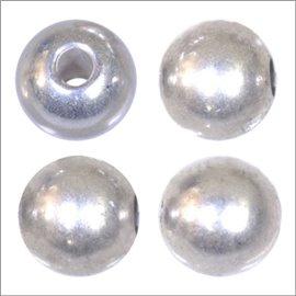 Apprêts boules de métal qualité premium - Rondes/5 mm - Argenté