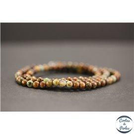 Perles en jade quartzeux - Rondes/4mm - Grade A