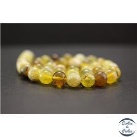 Perles en opale jaune d'Afrique - Rondes/10mm - Grade AB