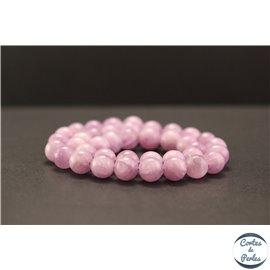 Perles en kunzite - Rondes/10mm - Grade AA+
