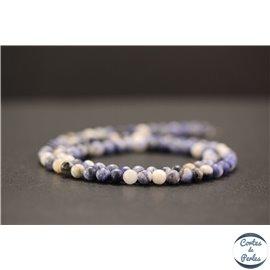 Perles en sodalite d'Afrique du Sud - Rondes/4mm - Grade AB