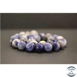 Perles en sodalite d'Afrique du Sud - Rondes/12mm - Grade AB