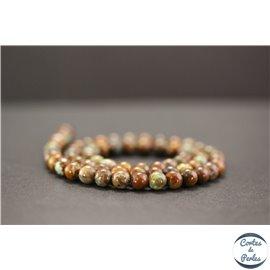 Perles en jade quartzeux - Rondes/6mm - Grade A