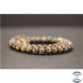 Perles en opale marron d'Afrique - Rondes/6mm - Grade AB