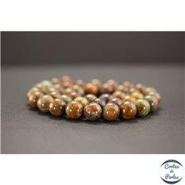 Perles en jade quartzeux - Rondes/10mm - Grade A