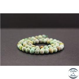 Perles en variscite du Brésil - Rondes/6mm - Grade A+