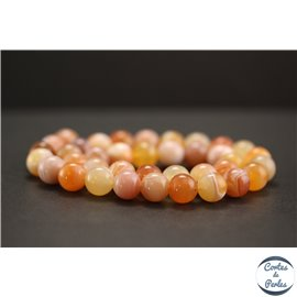 Perles en agate du Botswana - Rondes/10mm - Grade A