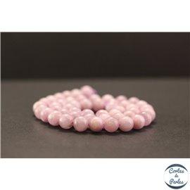 Perles en kunzite - Rondes/8mm - Grade AA+