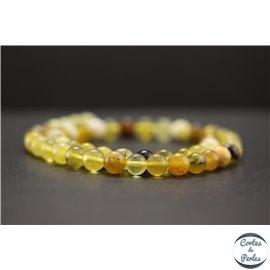 Perles en opale jaune d'Afrique - Rondes/8mm - Grade AB