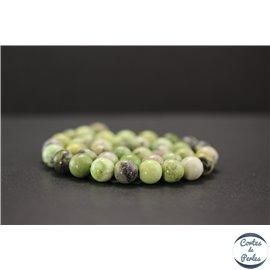 Perles en jaspe vert d'Australie - Rondes/10mm - Grade AB