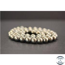 Perles en pyrite - Rondes/8mm - Grade A+